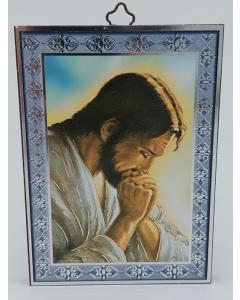 Puutaulu Rukoileva Jeesus