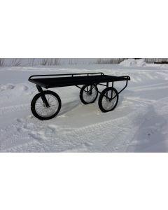 Saattovaunut 3 isoa pyörää, kumiuurrematto
