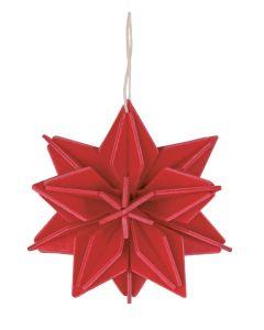 Lovi Tähti kirkkaanpunainen 7 cm