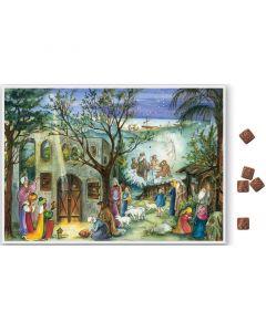 Suklaajoulukalenteri no S811 Betlehemin talli