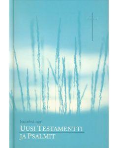 Uusi testamentti ja Psalmit isotekstinen, turkoosi tai pinkki