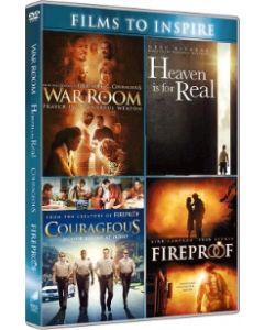 War room, Heaven is for real, Courageuos, Fireproof 4-DVD