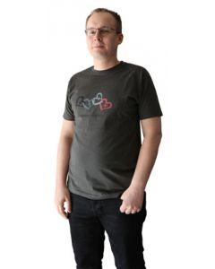 YV Sydänketju t-paita grafiitti slim-malli