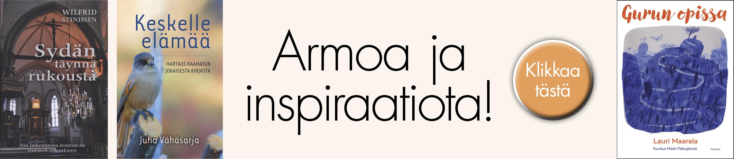 armoa ja inspiraatiota